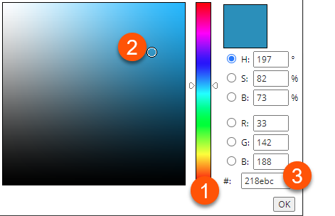 coloration interface