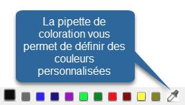 Pipette de coloration pour vos modèles de facture